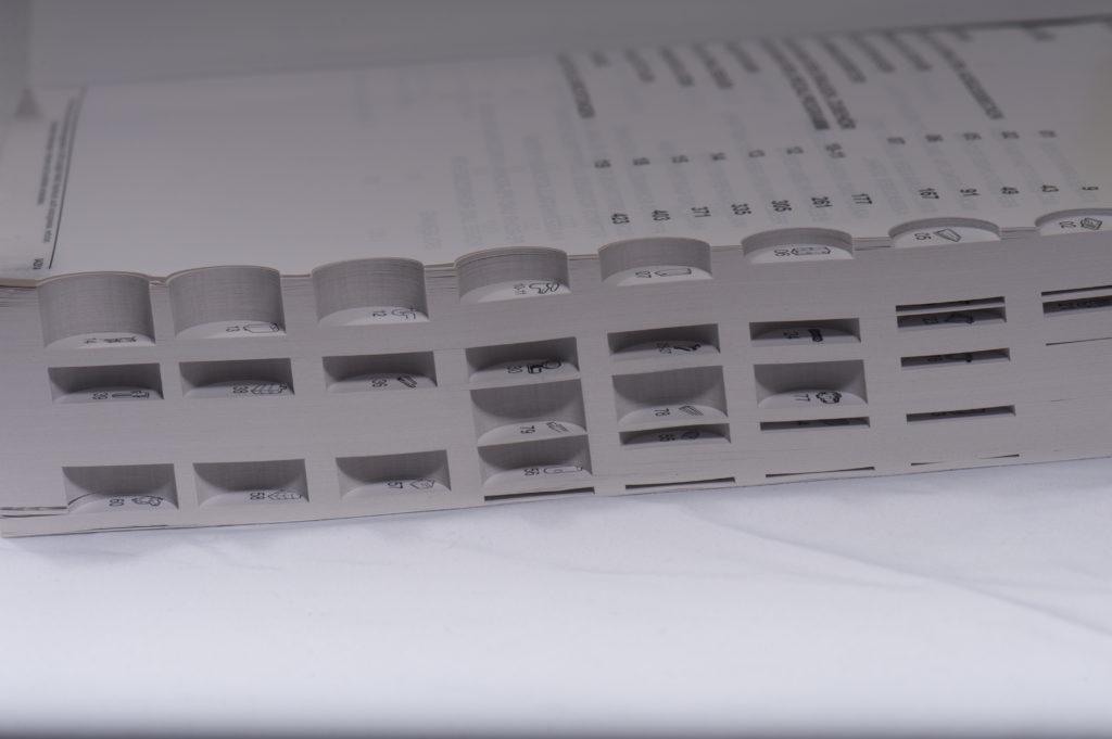 Daumenregister/Fingerholregister