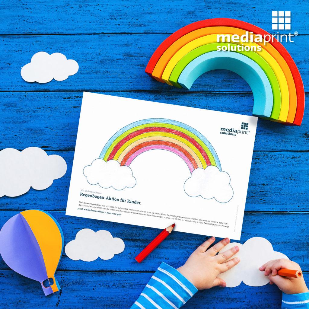 Regenbogen Malen Kinder